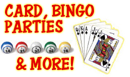 Card and Bingo Parties Graphic
